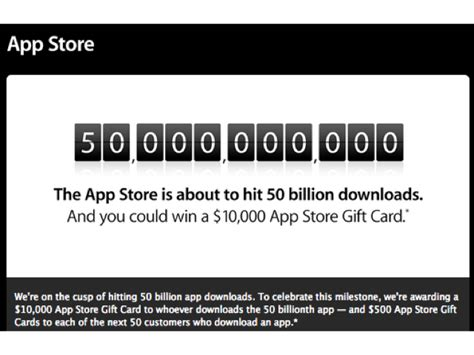 App Store Giveaway - apple nears 50 billion app store downloads plans giveaway ina fried mobile