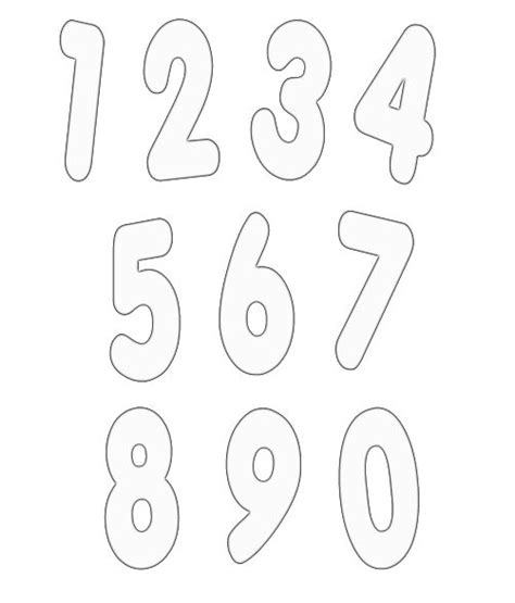 numbers templates free numbers clipart free craft project clipart