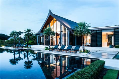 home design style resort thai style villa sarawin with sweeping bay views