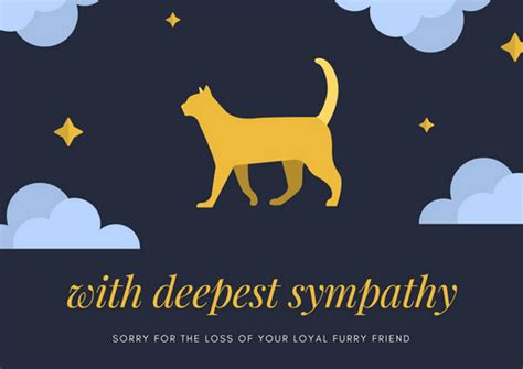Template For Pet Sympathy Card by Pet Sympathy Card Templates Canva