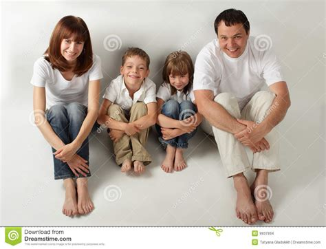 beautiful family beautiful family with two children series stock photo