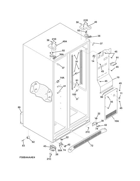 kenmore refrigerator schematic diagram model79576209901