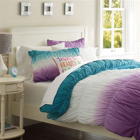 dip dye comforter surf dip dye ruched duvet cover from pbteen been there