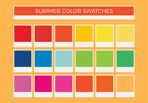 color swatches free summer vector color swatches download free vector