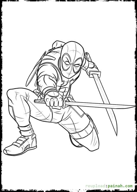 Coloring Page Deadpool by Deadpool Coloring Pages Coloring Pages