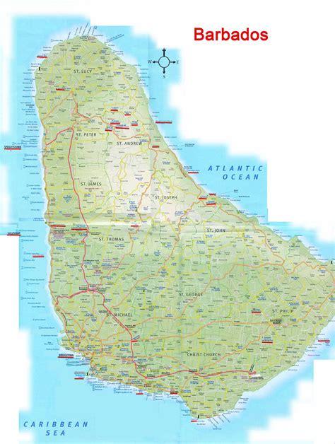 printable barbados road map barbados stra 223 enkarte
