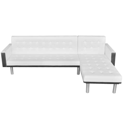 l shaped sofa beds white l shaped sofa bed adjustable white black lovdock com
