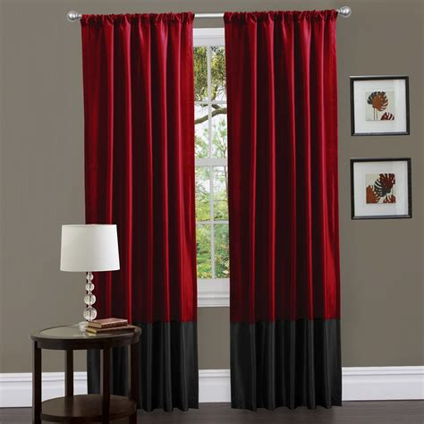 red and black curtain black red and white curtains home design ideas