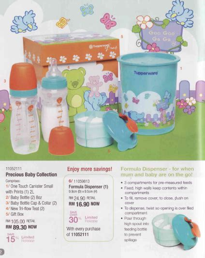 Tupperware Untuk Baby butik bayi comel tupperware brand precious baby collection