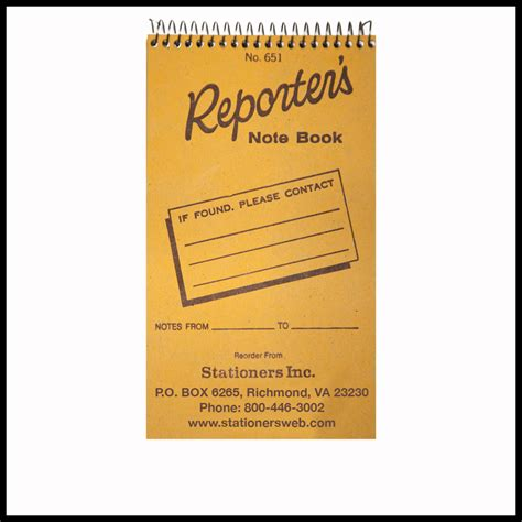 reporter books reporter s note book no 651
