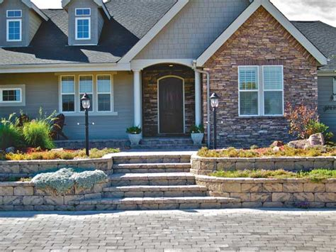 terraced front yard landscaping eyestopping curb appeal