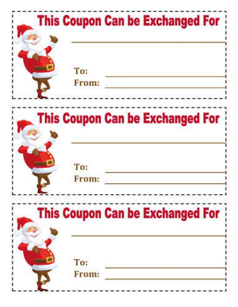 printable xmas coupons 21 free printable christmas coupons