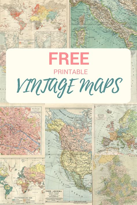 printable maps for crafts wonderful free printable vintage maps to download pillar