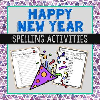 new year class activities happy new year spelling bee class list and