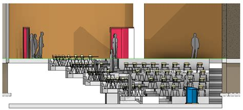 Lecture Theatre Section by Revit Rocks Revit Lecture Theatre Presentation Plans