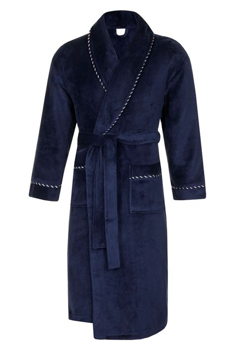 Mens Luxury Dressing Gowns Fleece Bath Robes House Coat Robe Belt Size S Xl Ebay