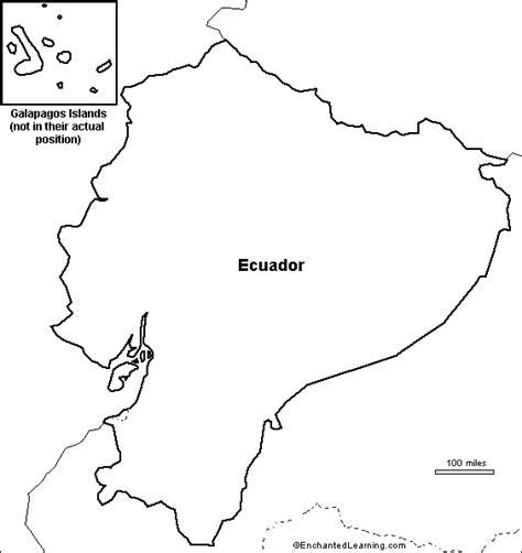 Outline Map Ecuador Enchantedlearning Com Ecuador Coloring Pages