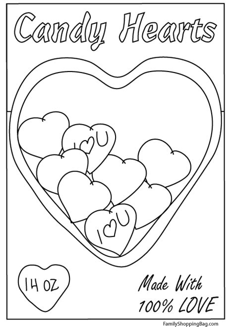 conversation heart coloring page valentine s day candy coloring pages
