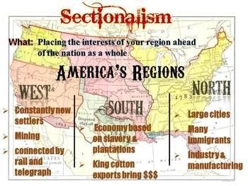 sectionalism during the civil war sectionalism canyon vista middle schoolus history vocabulary