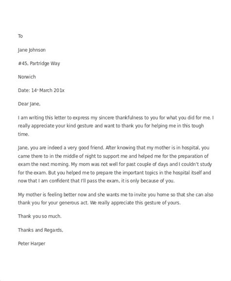 sample letters appreciation ms