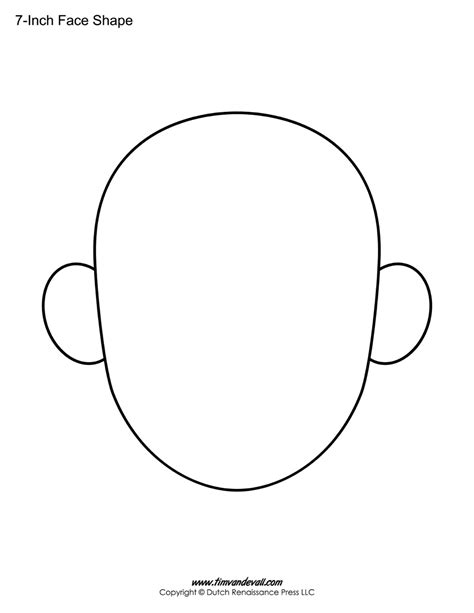blank face templates printable face shapes for kids