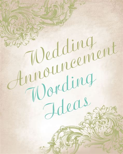 announcement wedding invitation wedding announcement wording ideas advice and ideas