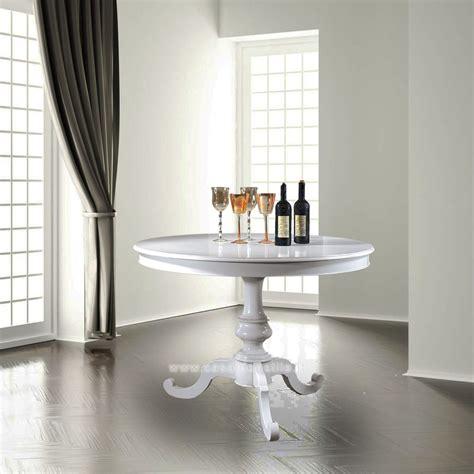 tavoli rotondi bianchi tavolo rotondo allungabile 100 140 tavoli rotondi