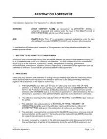 arbitration template doc 460595 mediation agreement template mediation