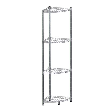 pinnacle 140 x 35 x 35cm 4 tier chrome corner wire shelving