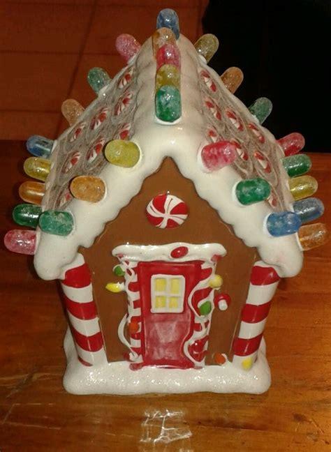 musical gingerbread house hallmark ceramic gingerbread house musical lighted gumdrops products i love