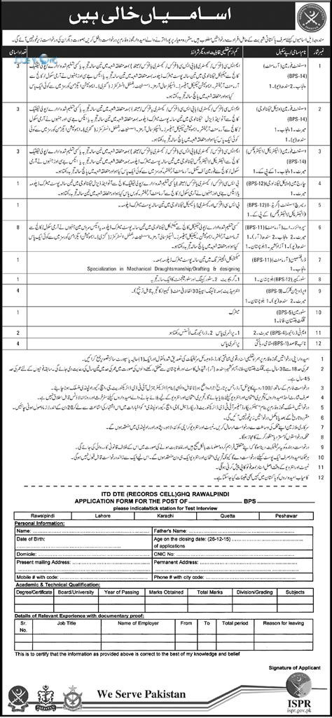 ispr pakistan jobs 2015 pak army latest for security supervisor pakistan army civilian jobs 2016 rawalpindi ghq latest