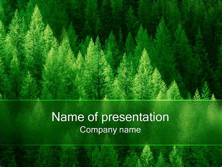 template forest free forest powerpoint template backgrounds id 0000000303