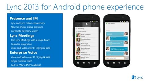 lync 2013 for android microsoft lync mobile and modern clients from atidan