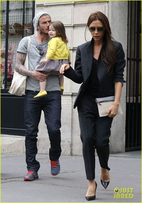 Beckham 3in1 Yr9910 david beckham holds onto his adorable 21 month as he goes out shopping on