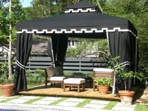 Outdoor Pergola Drapes Lawn Amp Garden Outdoor Gazebo Designs Backyard Patio