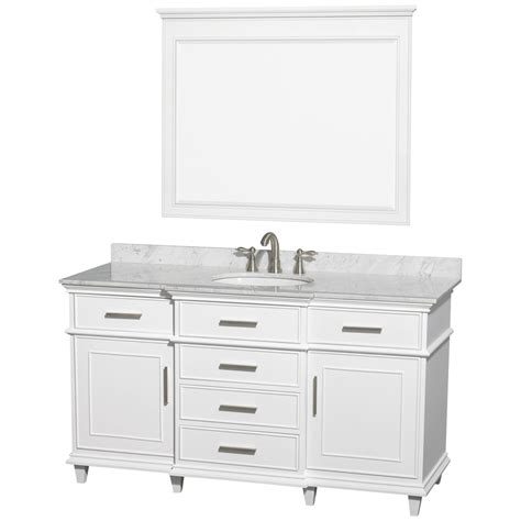 Bathroom Vanities 60 Single Sink Shop Wyndham Collection Berkeley White Undermount Single Sink Bathroom Vanity With
