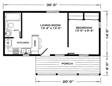 one floor tiny house north bay cabin plan