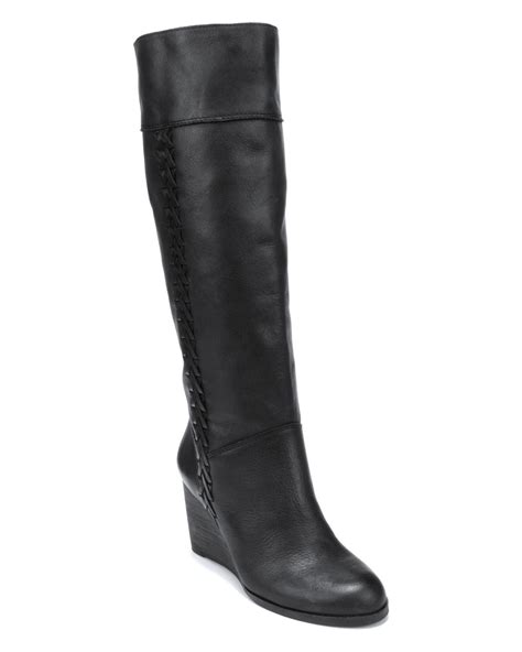 lucky brand wedge boots sanna in black lyst