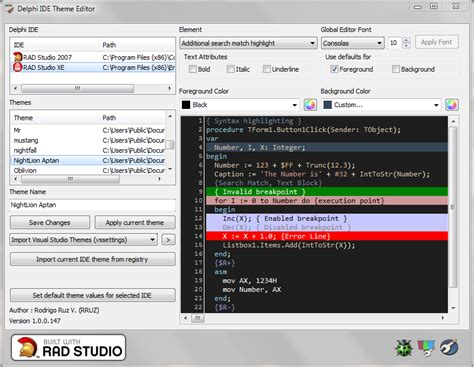 theme editor download free delphi ide theme editor download