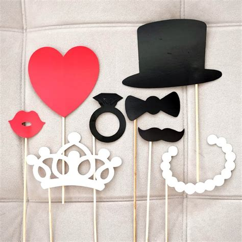 diy in props 8pcs set diy photo booth props mustache lip ring