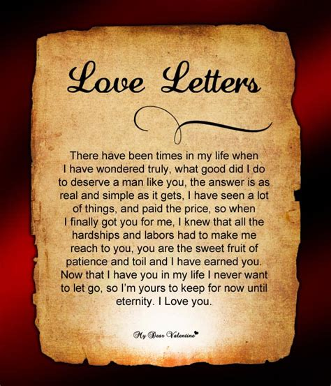 Letter For Valentines Day Letters Letters For Letters For Him