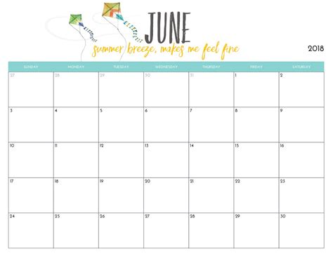 printable calendar june 2018 15 june 2018 calendar template to print latest calendar