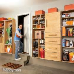 garage storage backdoor storage center the family handyman