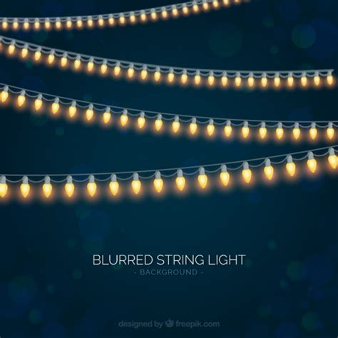 lights vector blurred background with string lights vector free