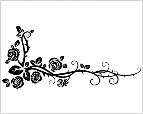 Wall Deco Stickers ramo di rose selvatiche decori adesivo murale