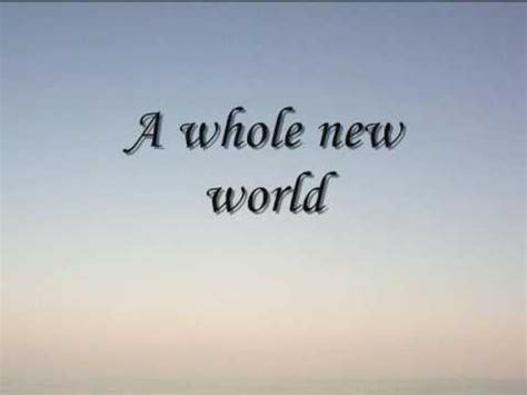 A Whole New World by A Whole New World With Lyrics