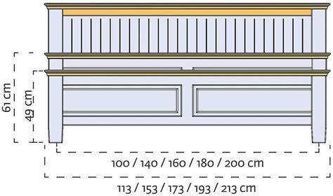 Hohes Bett 160x200 by Bett 160x200 Hohes Fu 223 Teil Kiefer Massiv Chagner
