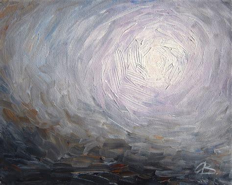 painting greys abstract landscape art print gray purple brush stroke oil