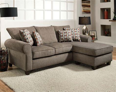 2pc sectional sofa gray reversible chaise sofa mickey slate 2 pc sectional