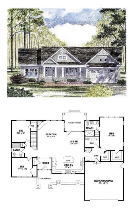small cottage house plans with attached garage cottage